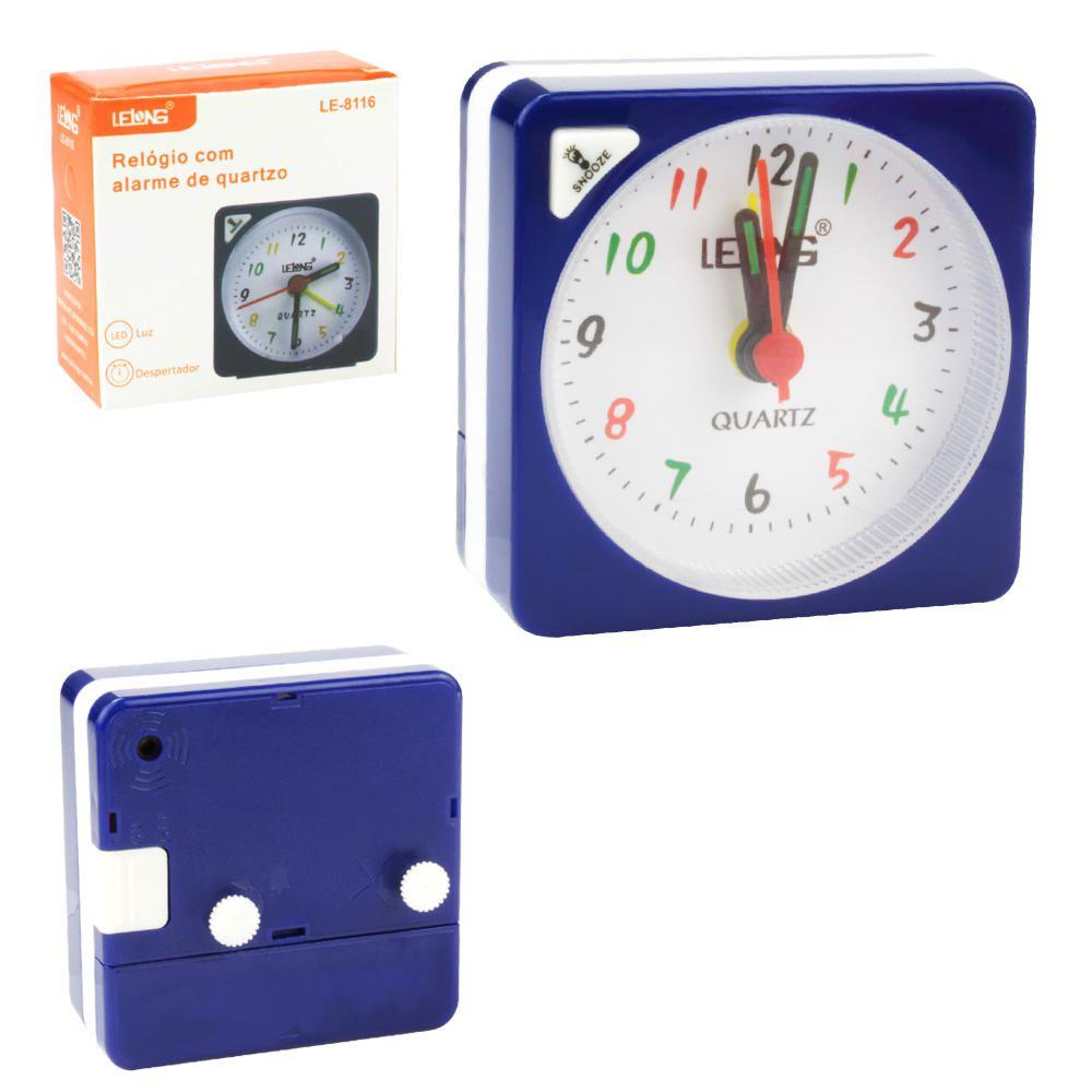 Relógio Com Alarme Quartzo Led LE8116 - LELONG