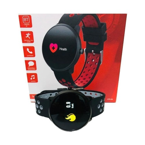 Relógio Smartwatch Bluetooth Mtr-09 - Tomate