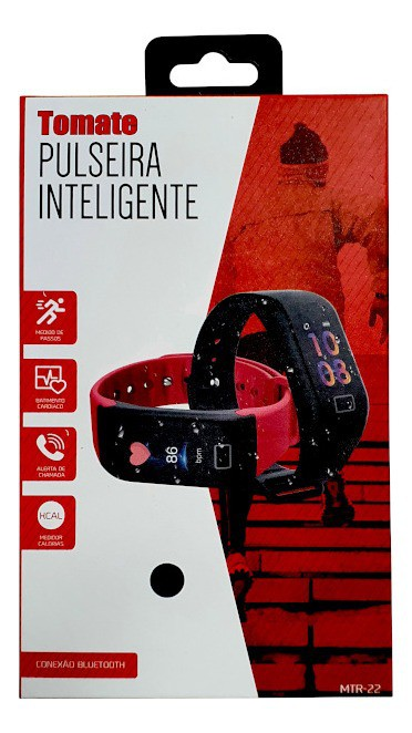Relógio Smartwatch Bluetooth Mtr-22 - Tomate