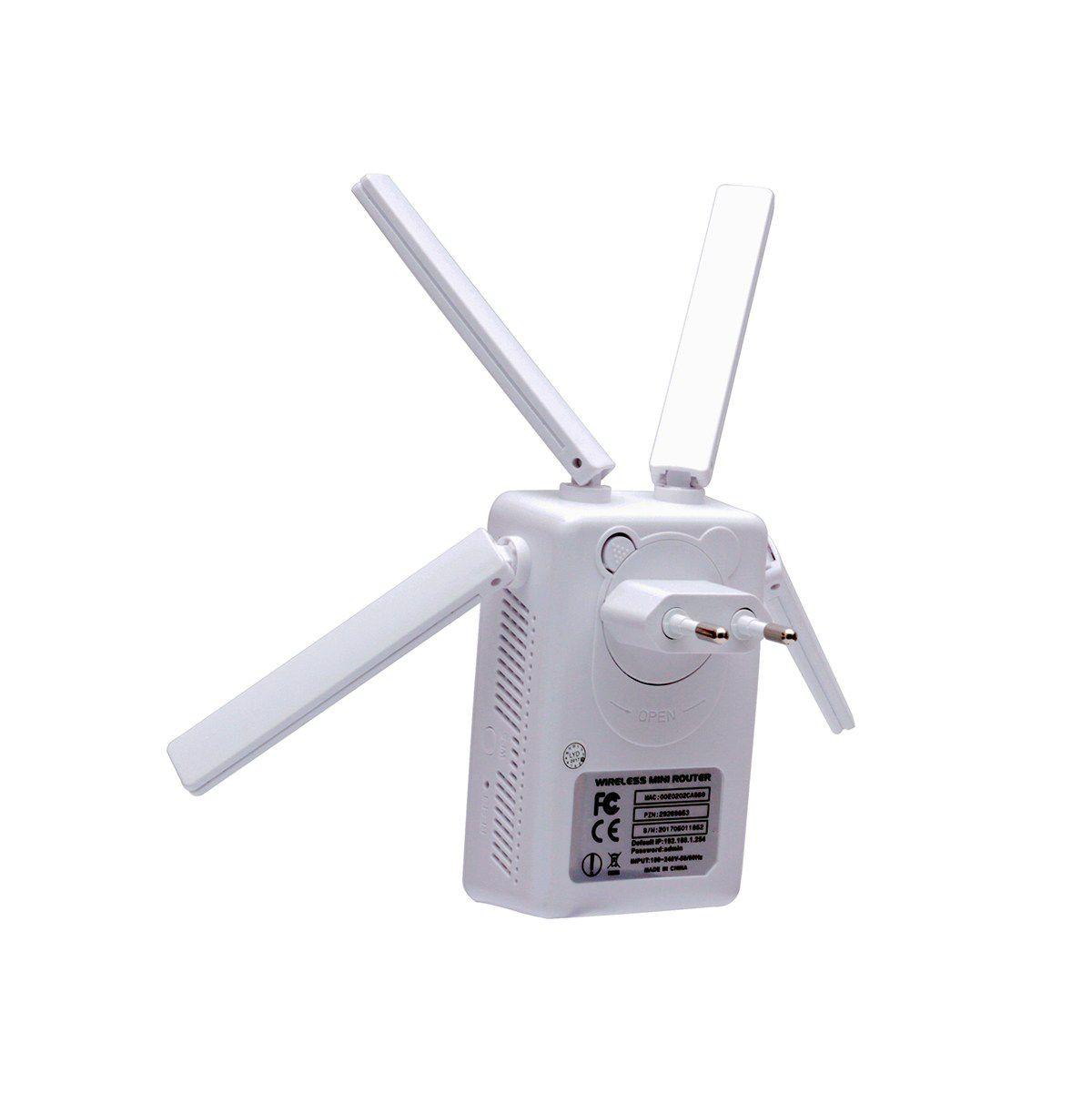 Repetidor Wifi Extensor 4 Antenas 300mbps Knup KP-3009