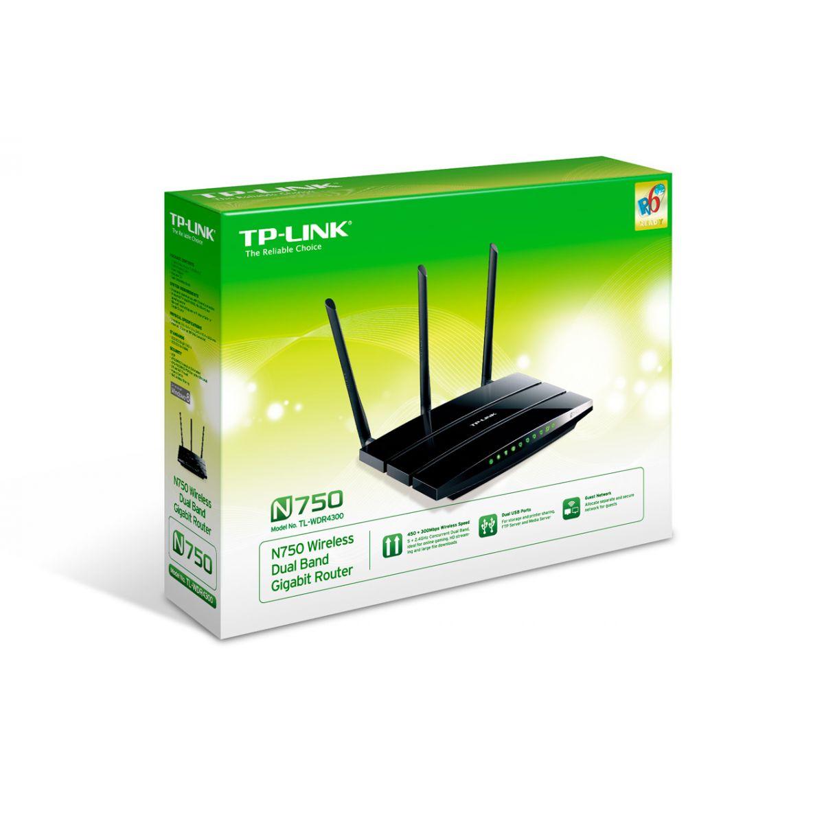 Roteador Gigabit Wireless De Banda Dupla N750 Tl-wdr4300