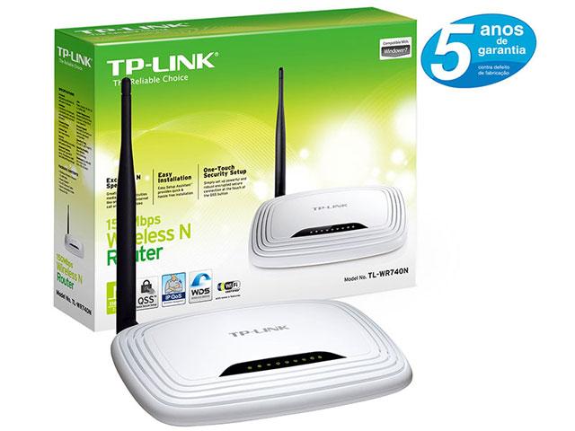 Roteador Wireless 150Mbps Lite N TLWR740N V2 TPLINK