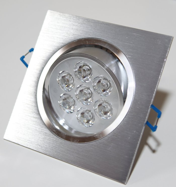 Spot Alumínio Quadrado (1x7W) 7W Led Branco Puro