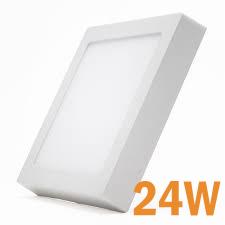 Plafon Spot de sobrepor quadrado tipo Painel LED 24W Branco Frio