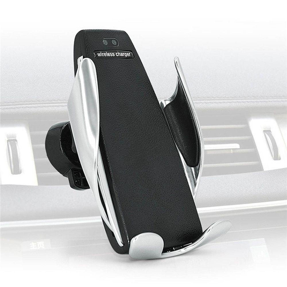 Suporte E Carregador Sem Fio Qi Celular Automático Veicular S5 Pinguim