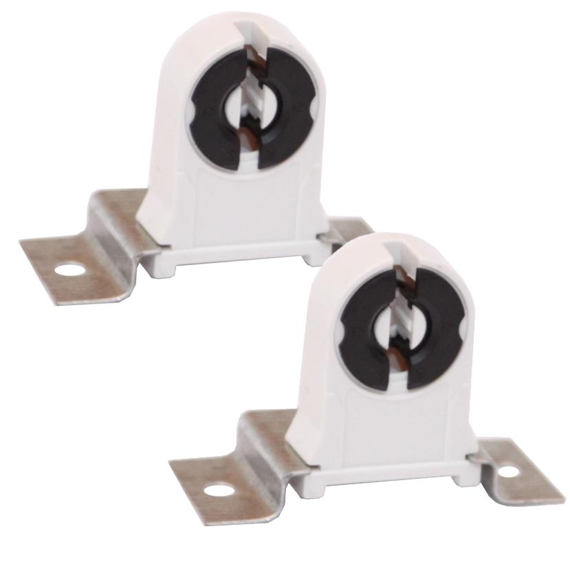 Kit 2x Suporte Fixação Universal p/ Lâmpada Tubular LED