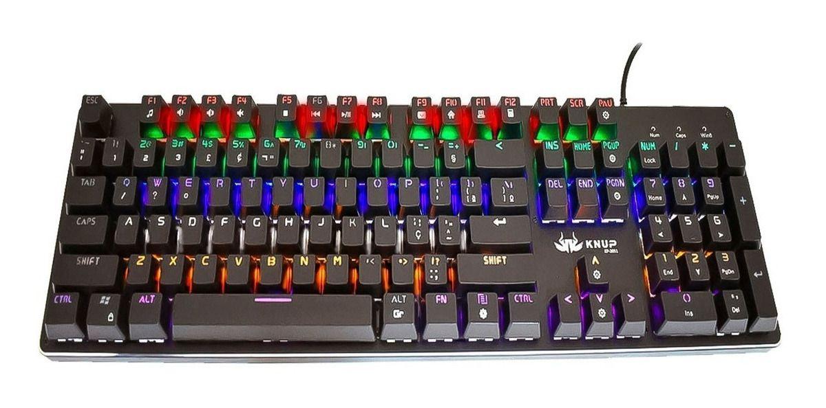 Teclado Gamer Mecânico Profissional Knup Kp-2051