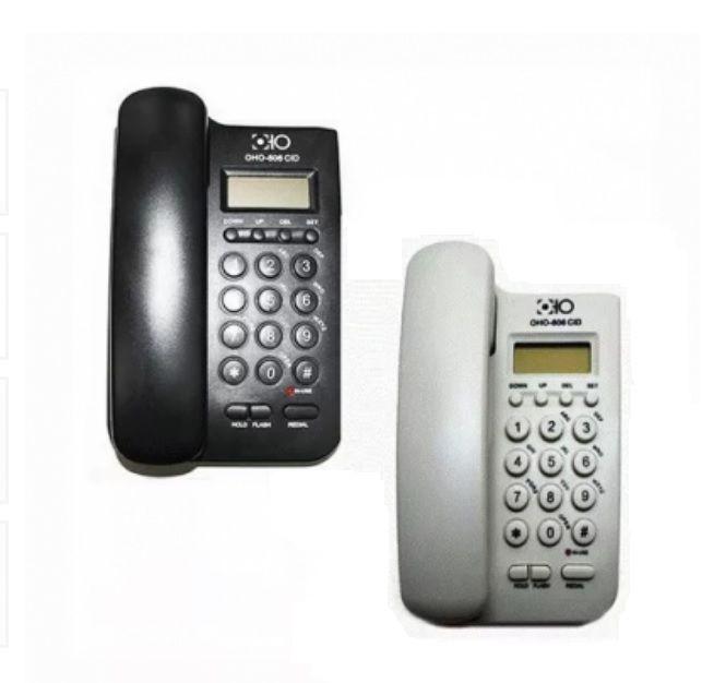 Telefone De Mesa Fixo Telefonia Hogar modelo: Oho-806cid