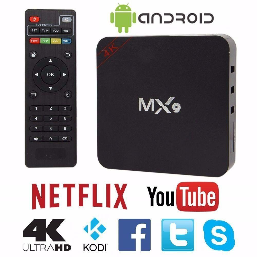 TV Box MX9 Android c/ Controle