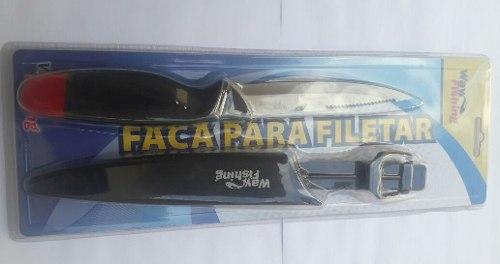 Faca Para Filetar F-102 (Flutuante) - Way Fishing  - Life Pesca - Sua loja de Pesca, Camping e Lazer