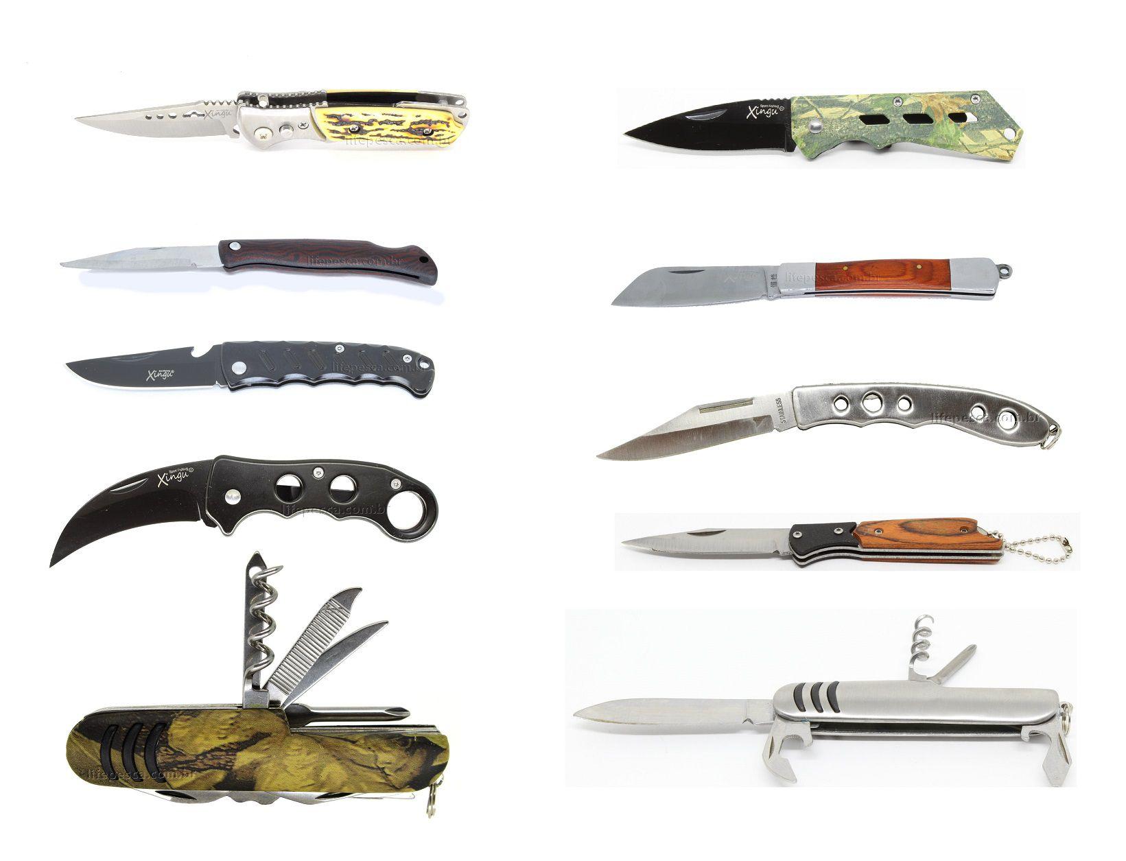 10 Canivetes Xingu Vários Modelos - Super Promoção!!!