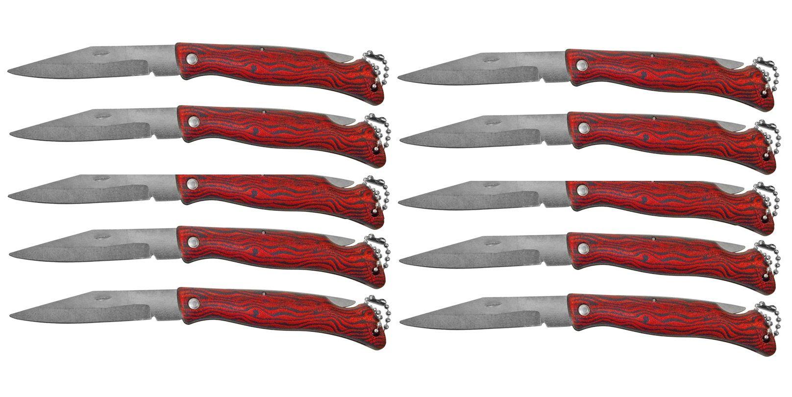 Kit 10 Canivetes Xingu XV2845 - Cabo Amadeirado