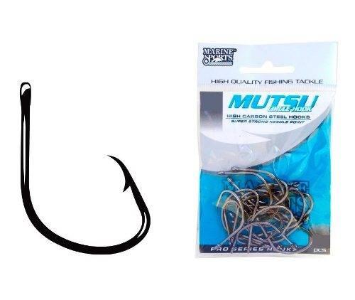 Anzol Mutsu Circle Hook Nº 8/0 Black - Marine Sports - 10 Peças