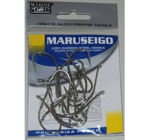 Anzol Maruseigo Nº 24 Nickel - Marine Sports - 15 Peças
