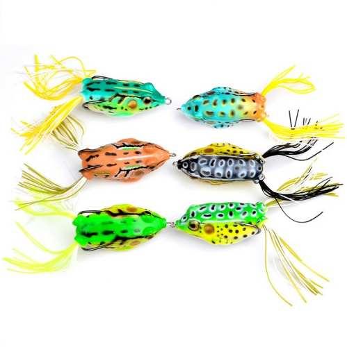 Kit C/6 Iscas Artificiais Sapos Frog - Anti Enrosco 5,5cm 12,5gr  - Life Pesca - Sua loja de Pesca, Camping e Lazer