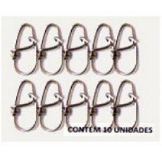 Snap Unilock Nº 0 - Aço Inox 0,80mm Até 73kg - 10 Unidades - Bóias Barão  - Life Pesca - Sua loja de Pesca, Camping e Lazer