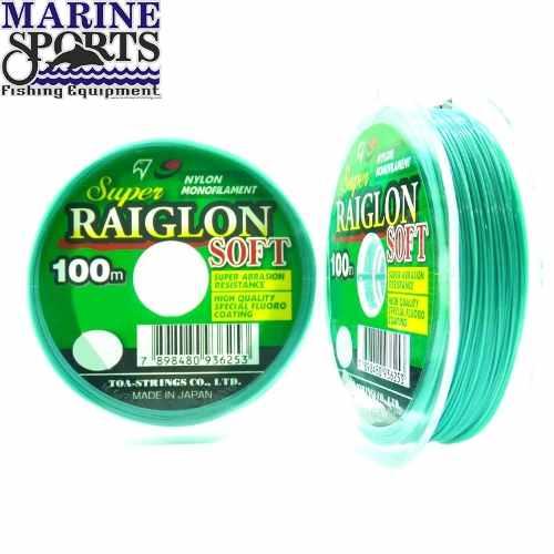 Linha Monofilamento Marine Sports Raiglon Soft 0,28mm 14lb/6,35Kg - 100 Metros