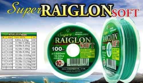 Linha Monofilamento Marine Sports Raiglon Soft 0,43mm 29lb/13,25Kg - 100 Metros  - Life Pesca - Sua loja de Pesca, Camping e Lazer