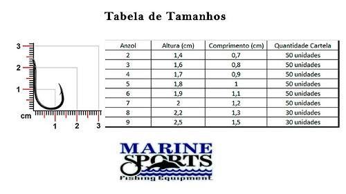 Anzol Chinu Nº 6 Nickel - Marine Sports - 100 Peças  - Life Pesca - Sua loja de Pesca, Camping e Lazer