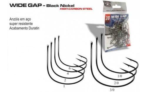 Anzol Wide Gap Nº 4 Black Nickel - Marine Sports - 100 Peças  - Life Pesca - Sua loja de Pesca, Camping e Lazer