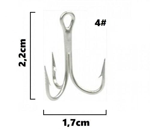 Garateia Marine Sports N° 4 (2,2cm) - Caixa 100 Peças  - Life Pesca - Sua loja de Pesca, Camping e Lazer
