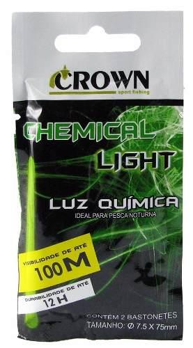 Luz Química Crown P/ Pesca 7.5 x 75mm Green - Cartela C/2 Peças  - Life Pesca - Sua loja de Pesca, Camping e Lazer