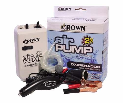 Oxigenador P/ Iscas Vivas Ap 3502 2-D Kit 12V - Crown