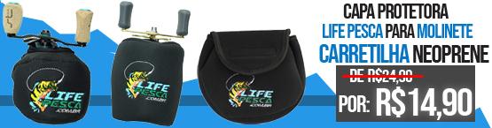 capas protetora para molinete e carretilha life pesca