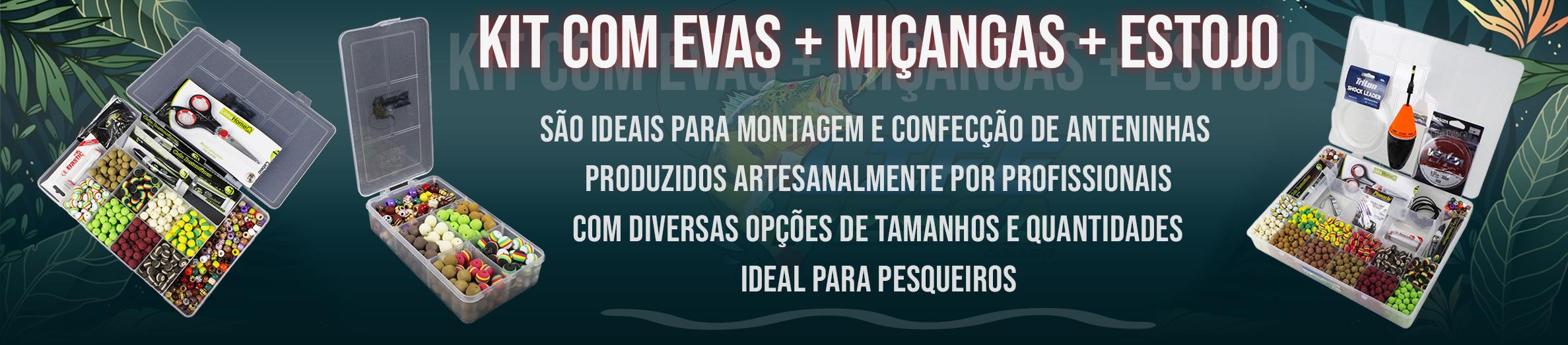 Kit de Evas+Miçangas+Estojo