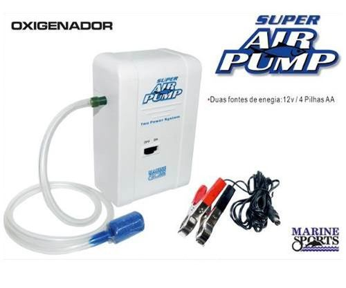Oxigenador P/ Iscas Vivas Super Air Pump - Marine Sports