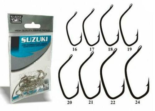 Anzol Suzuki Nº 20 - Marine Sports - 25 Peças  - Life Pesca - Sua loja de Pesca, Camping e Lazer