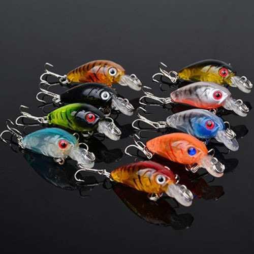 Kit 9 Iscas Artificiais Mini P/ Tilápias Trairás Bass Trutas  - Life Pesca - Sua loja de Pesca, Camping e Lazer