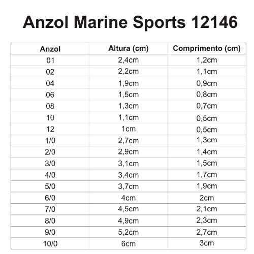 Anzol Marine Sports 12146 N° 6/0 Black - 10 Peças  - Life Pesca - Sua loja de Pesca, Camping e Lazer