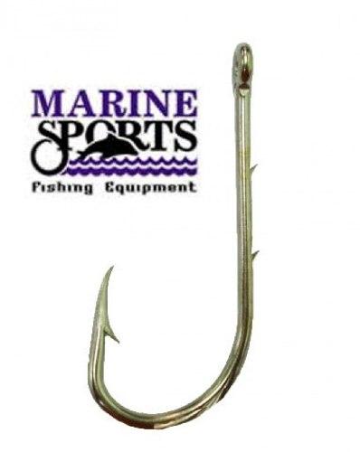Anzol Marine Sports Super Strong 4330 N° 8/0 (6,0cm) C/ Farpas - 10 Peças  - Life Pesca - Sua loja de Pesca, Camping e Lazer