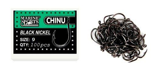Anzol Chinu Nº 9 Black Nickel - Marine Sports - 100 Peças  - Life Pesca - Sua loja de Pesca, Camping e Lazer