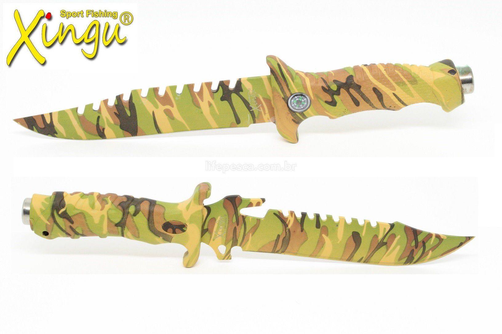 2 Facas Esportivas Xingu Camufladas 2 Modelos