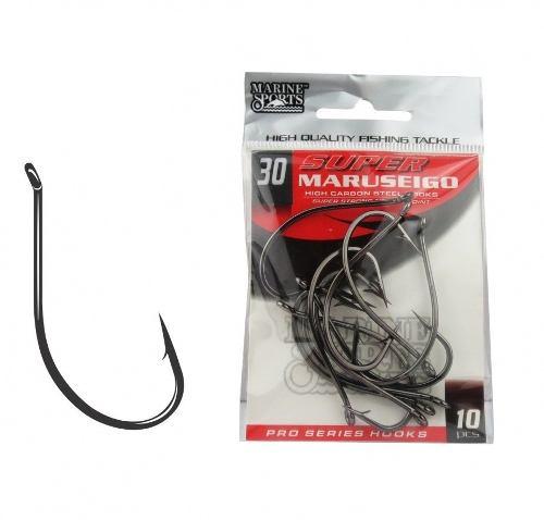 Anzol Super Maruseigo Nº 30 Black Nickel Marine Sports - 10 Peças  - Life Pesca - Sua loja de Pesca, Camping e Lazer