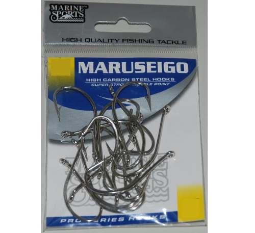 Anzol Maruseigo Nº 28 Nickel - Marine Sports - 10 Peças