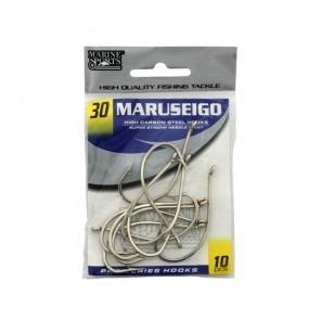 Anzol Maruseigo Nº 30 Nickel - Marine Sports - 10 Peças  - Life Pesca - Sua loja de Pesca, Camping e Lazer