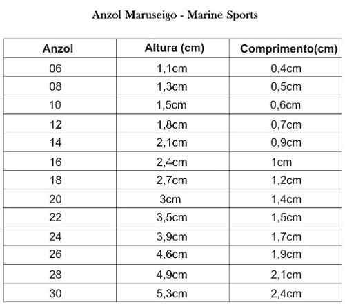 Anzol Maruseigo Nº 18 Nickel - Marine Sports - 50 Peças  - Life Pesca - Sua loja de Pesca, Camping e Lazer