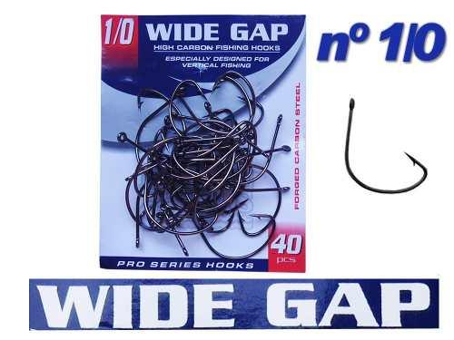 Anzol Wide Gap Nº 1/0 Black Nickel - Marine Sports - 40 Peças