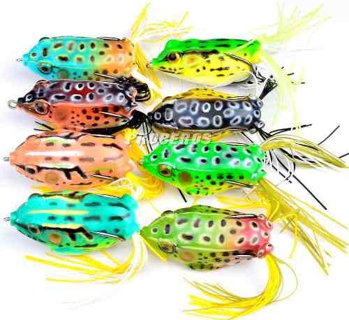 Kit 8 Iscas Artificiais Sapos Frog - Anti Enrosco 5,5cm 12,5gr  - Life Pesca - Sua loja de Pesca, Camping e Lazer