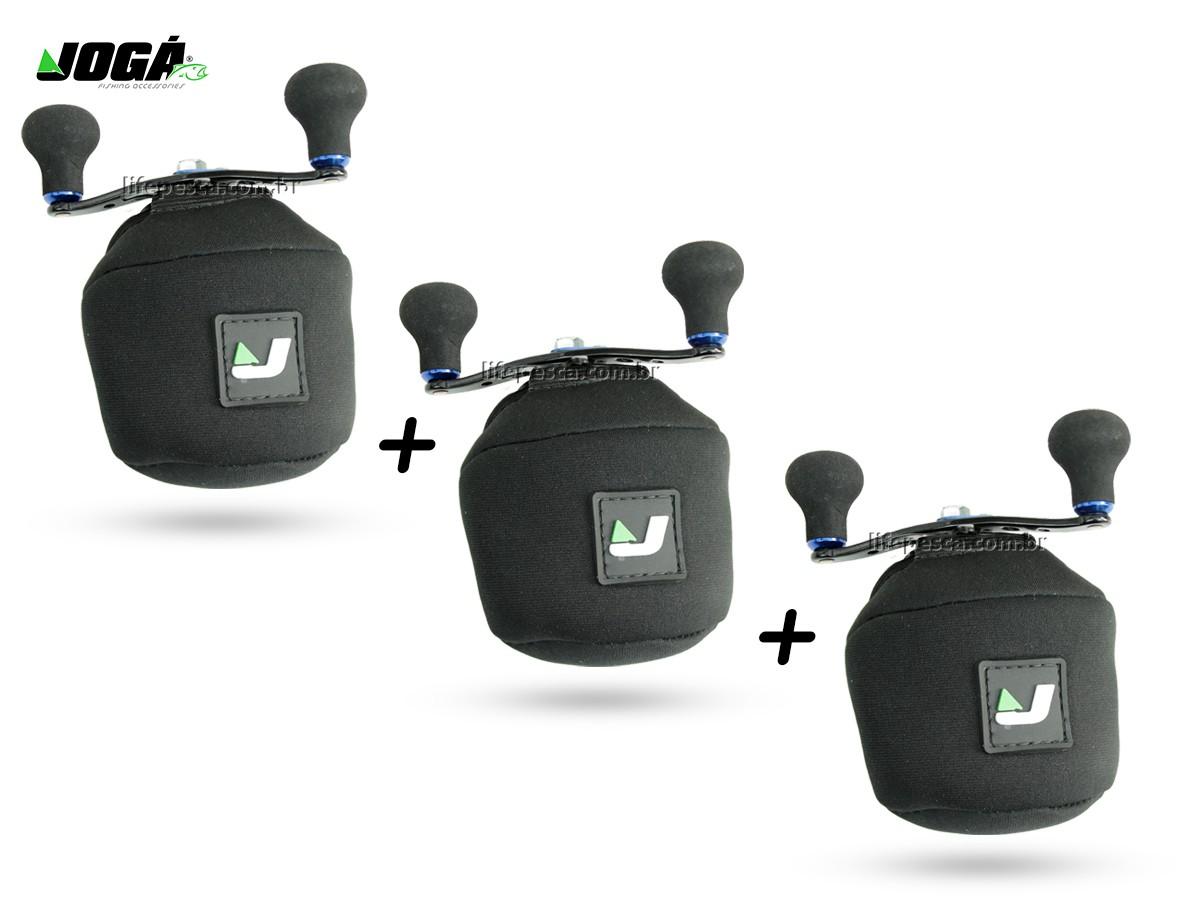 3 Capas Protetora Jogá em Neoprene P/ Carretilha Perfil Baixo