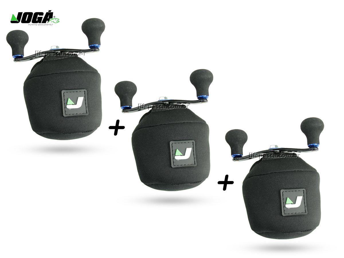 3 Capas Protetora Jogá em Neoprene P/ Carretilha Perfil Baixo - G