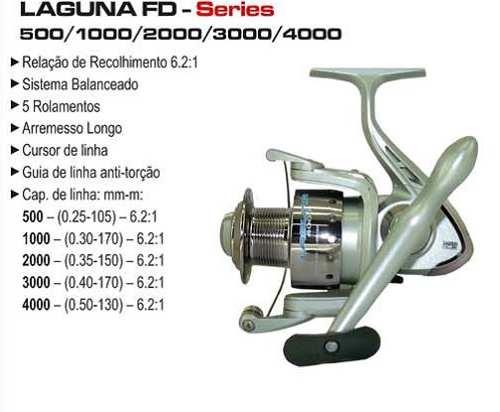 Molinete Laguna 3000 FD - 5 Rolamentos - Marine Sports  - Life Pesca - Sua loja de Pesca, Camping e Lazer