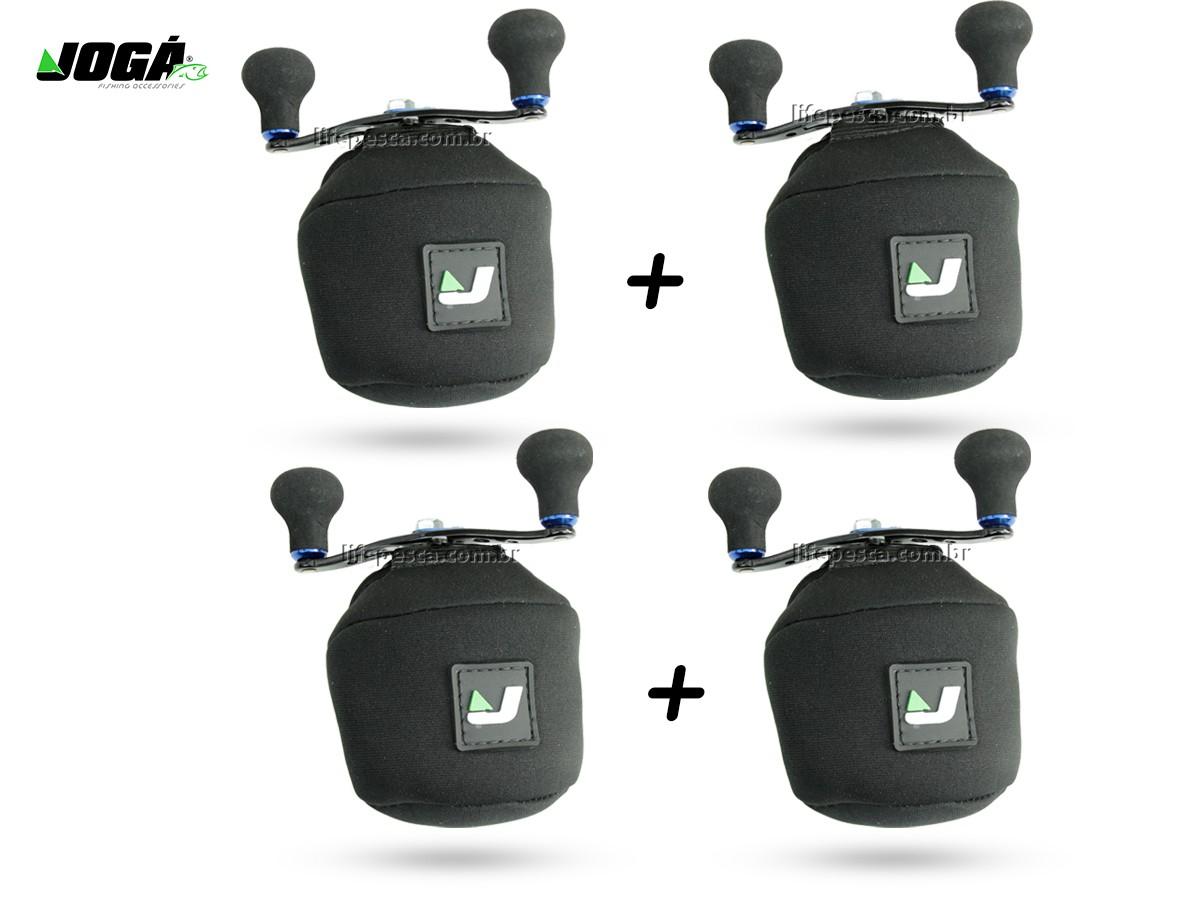 4 Capas Protetora Jogá em Neoprene P/ Carretilha Perfil Baixo