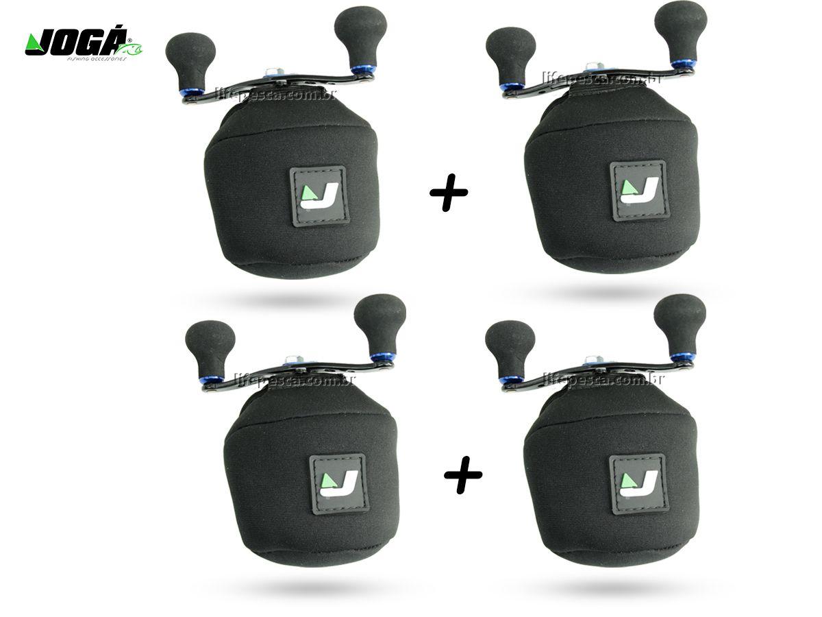 4 Capas Protetora Jogá em Neoprene P/ Carretilha Perfil Baixo - G