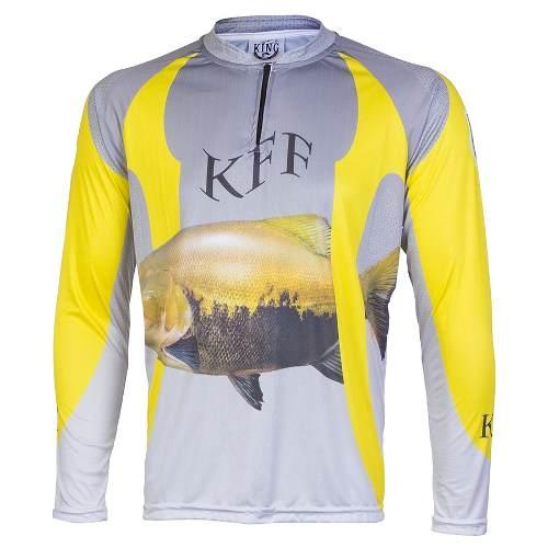 Camiseta De Pesca King Proteção Solar Uv KFF14 - Tamba