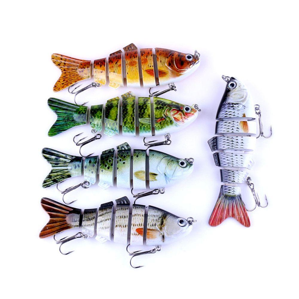 5 Iscas Artificiais Lambari Articulado 6 Segmentos - 5 Cores  - Life Pesca - Sua loja de Pesca, Camping e Lazer