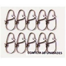 Snap Unilock Nº 0 - Aço Inox 0,90mm Até 103kg - 10 Unidades - Bóias Barão  - Life Pesca - Sua loja de Pesca, Camping e Lazer